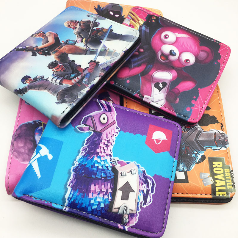 2019 New Super Hot Cartoon Game Wallet Coin Bag Cartoon Figure Toys Card Bag Action Gift