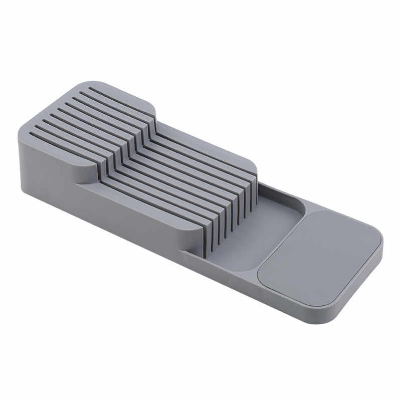 Pisau Blok Holder Sendok Garpu Plastik Laci Organizer Tray Rak Perkakas Universal Knife Stand Organizer Penyimpanan Dapur