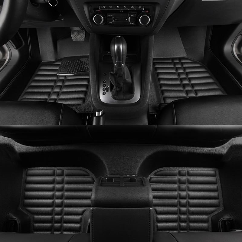 3D водонепроницаемые автомобильные коврики на заказ, передний и задний напольный коврик, Стайлинг, автомобильный коврик для VOLKSWAGEN VW GOLF 7 2014 ...