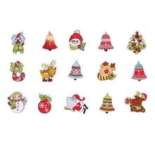 PCute Christmas Manual Stickers Cute Deer Snowman New Year Decor Party Chrismas Tree Pendant Decoracion PGM