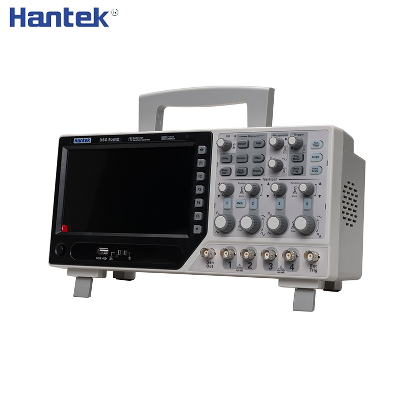 Hantek Digital Oscilloscope Portable 80-250 MHz 4 Channels 1GSa/s Record Length 64K USB DSO4084C DSO4104C DSO4204C DSO4254C image
