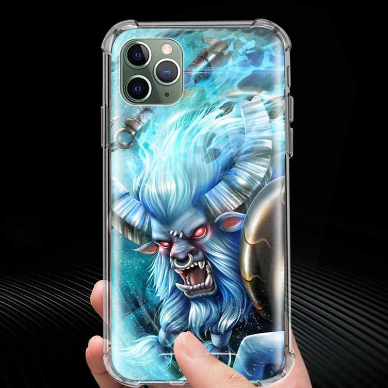 Lót Chuột Dota 2 Trò Chơi Dành Cho Iphone 11 11Pro XR XS Max X 7 8 6 6S 6S Plus Túi Khí chống Rơi Điện Thoại Rõ Ràng Fundas Capa