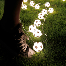 LED String Soccer Light String Outdoor Patio Lights Ball Light Thai Garland Lamp Chain Chanukah Twinkly Holiday Novelty Football