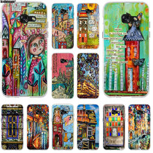 Soft Silicone TPU Cell Phone Cases For Samsung Galaxy J1 J2 J3 J5 J7 A3 A5 A7 2015 2016 2017 Bags Art Journaling Collage Houses