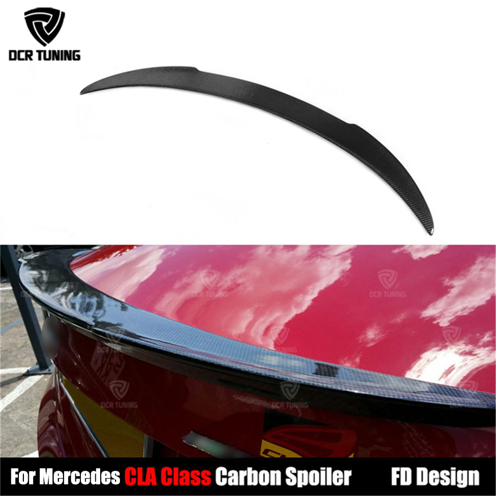 FD Style <font><b>spoiler</b></font> For Mercedes CLA Class W117 C117 CLA45 Carbon Fiber Rear Trunk Wing <font><b>Spoiler</b></font> 2013-UP CLA180 CLA200 <font><b>CLA250</b></font> CLA260 image
