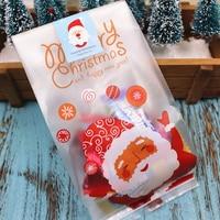 50 teile/los Santa Claus Candy Tasche Frohe Weihnachten Geschenk Taschen Kunststoff Verpackung Tasche Präsentiert für Weihnachten Party Decor 2019-in Strümpfe & Geschenkehalter aus Heim und Garten bei