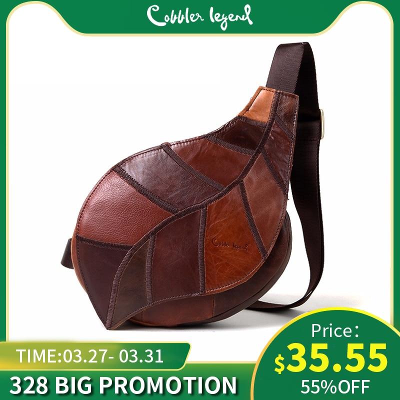Cobbler Legend Brand Design 2019 Genuine Leather Bag Chest Pack Women's Messenger Bag Vintage Shoulder Bags Bolso De Las Mujeres