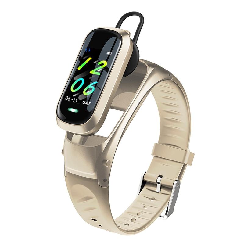 2-in-1 Smart Bracelet With Bluetooth Earphones