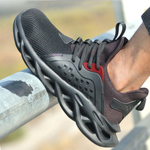 Steel Toe Shoes Men Women Piercing-proof Lightweight Breathable Work Safe Shoes WHShopping