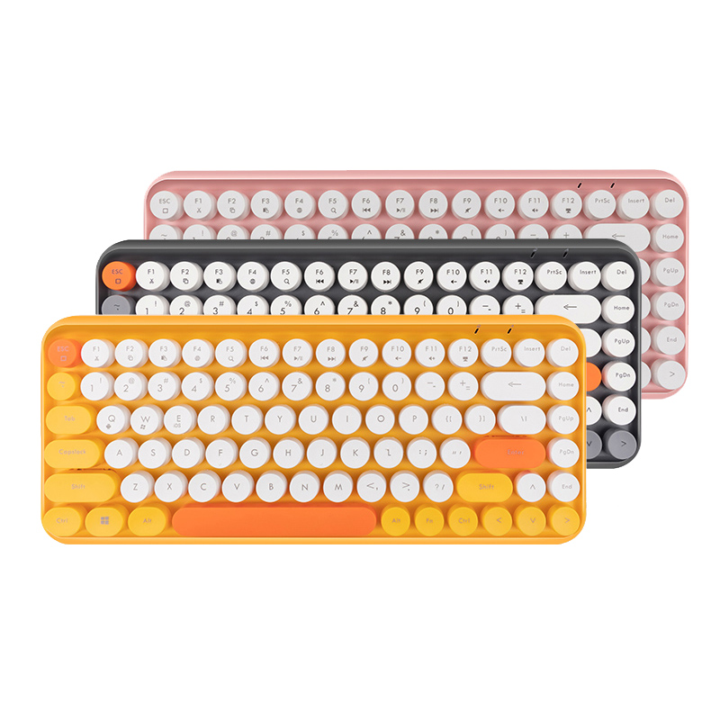 Wireless Bluetooth Keyboard Mini Round Button Gaming Keyboard For Macbook Lenovo Dell Asus Laptop IPad Tablet Computer Keypad