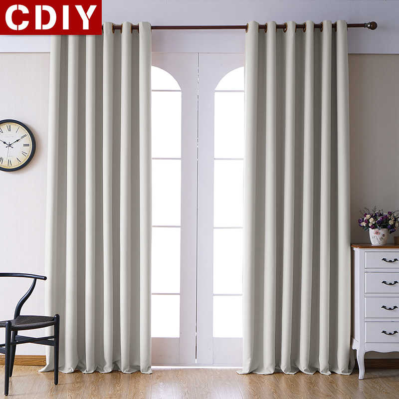 CDIY Solid Blackout Curtains For Living Room Bedroom Modern Window Curtains For Kitchen Thick Curtains Drapes Finished Curtains