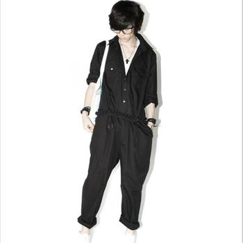 Spring and summer new Korean personality men's overalls jumpsuit  pants overalls large size pants hair stylist stage