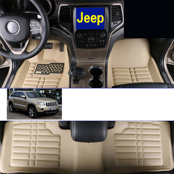 lsrtw2017 leather auto car floor mats for jeep grand cherokee wk2 2011 2012 2013 2014 2015 2016 2017 2018 accessories covers