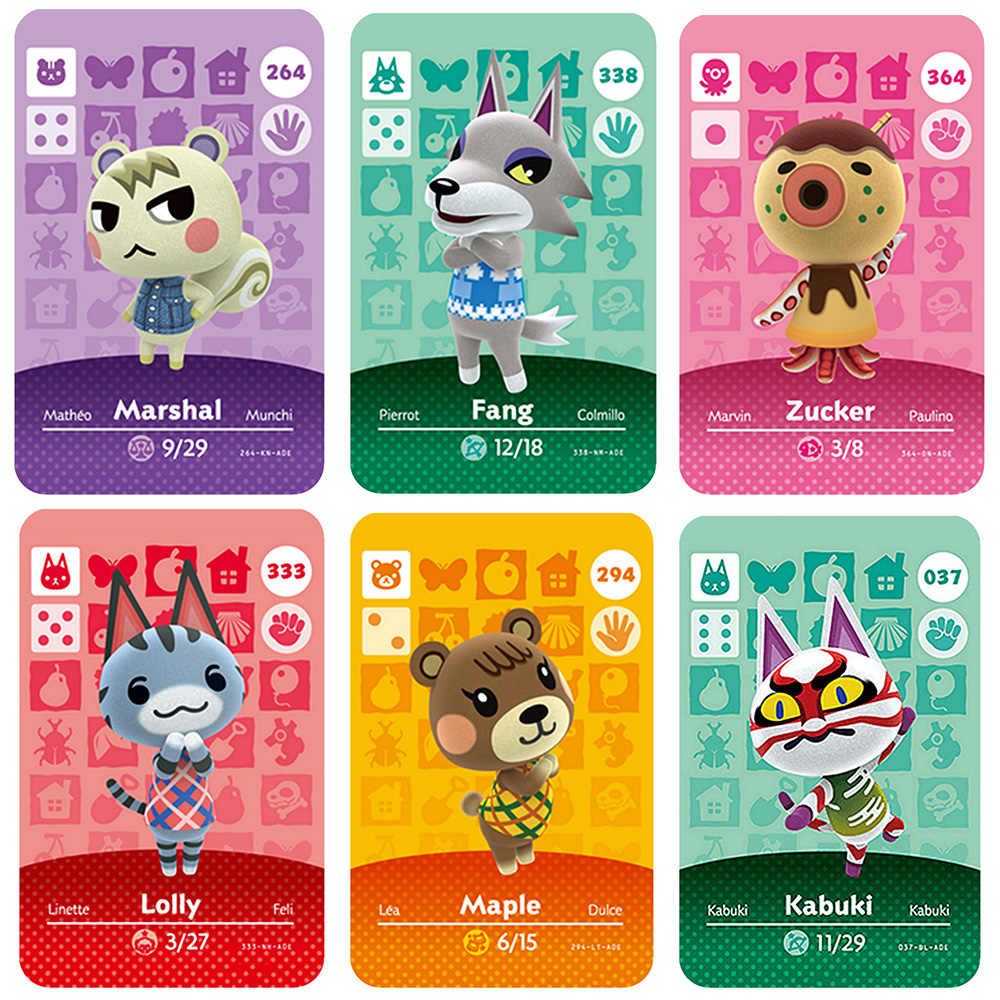 Amiibo , Animal Crossing Kartu 264 255 333 296, Amiibo Kartu