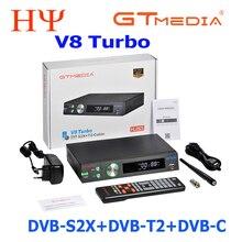 GTMedia receptor satélite V8 Turbo, H.265, Full HD, DVB S2, DVB T2, DVB C, wi fi integrado, freesat V8 golden