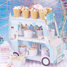 Creative Paper Car Shaped Mr Mrs Wedding Cake Decoration Stand Ice Cream Display Candy Birthday