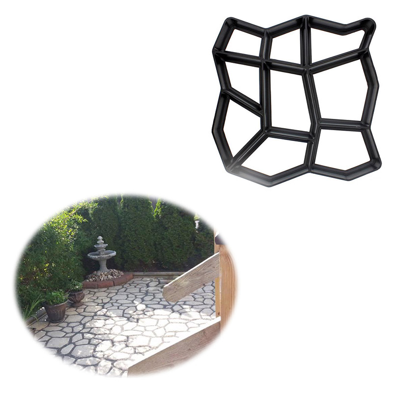 Garden Pavement Mold Garden Walk Pavement Concrete Mould DIY Manually Paving Cement Brick Stone Road Concrete Molds Path Mate