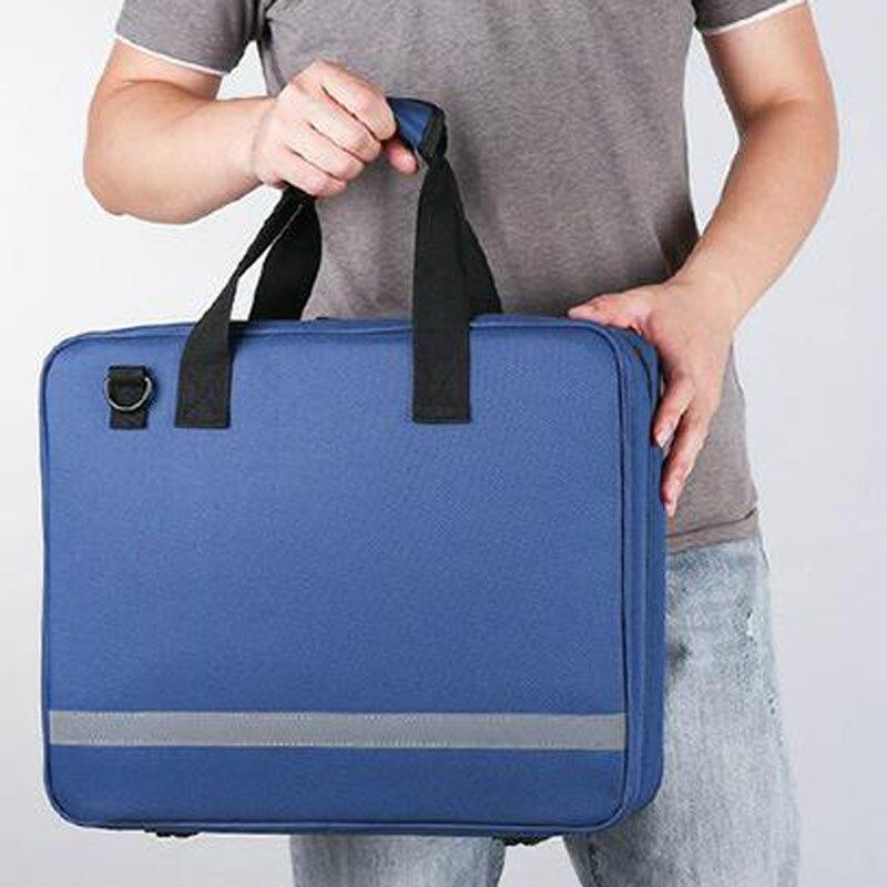 Outdoor First Aid Kit Sports Nylon Waterproof Multi-function Reflective Messenger Bag Family Travel Emergency Medical Kit DJJ043