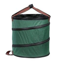 Składany kosz na śmieci ogród worek na odpady Camping kosz na śmieci liść torba ogrodnicza kosz na bieliznę|Worki na śmieci|Dom i ogród -