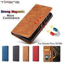Luxus Ledertasche Flip Brieftasche Coque Für Xiaomi Mi Poco M3 X3 Pro NFC Abdeckung Karte Halter Starke Magnetische Stand telefon Taschen Fundas