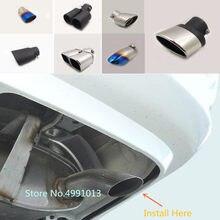 Para toyota corolla ex 2003 2004 2005 2006 capa do carro silenciador exterior traseiro tubo de escape dedicar ponta cauda saída ornamento