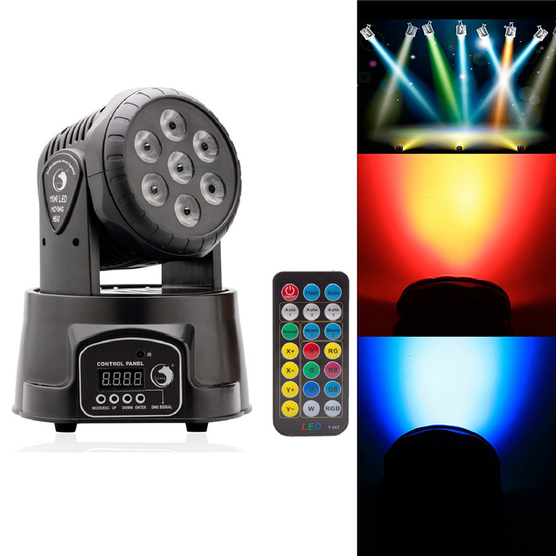 High Quality RGBW LED Stage Light Moving Head Beam Party Light DMX-512 Led Dj Christmas Sound Active DMX Disco Light EU Plug