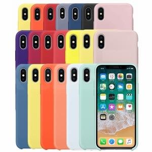 Funda de silicona Original de lujo para iPhone 5SE 6s 7 8Plus, funda con logotipo líquido para Apple iPhone 11 X XS Max XR 11pro MAX Case