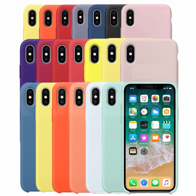 Luxury Original Official Silicone Case For iPhone 5SE 6s 7 8Plus Liquid LOGO Case For Apple iPhone 11 X XS Max XR 11pro MAX Case image