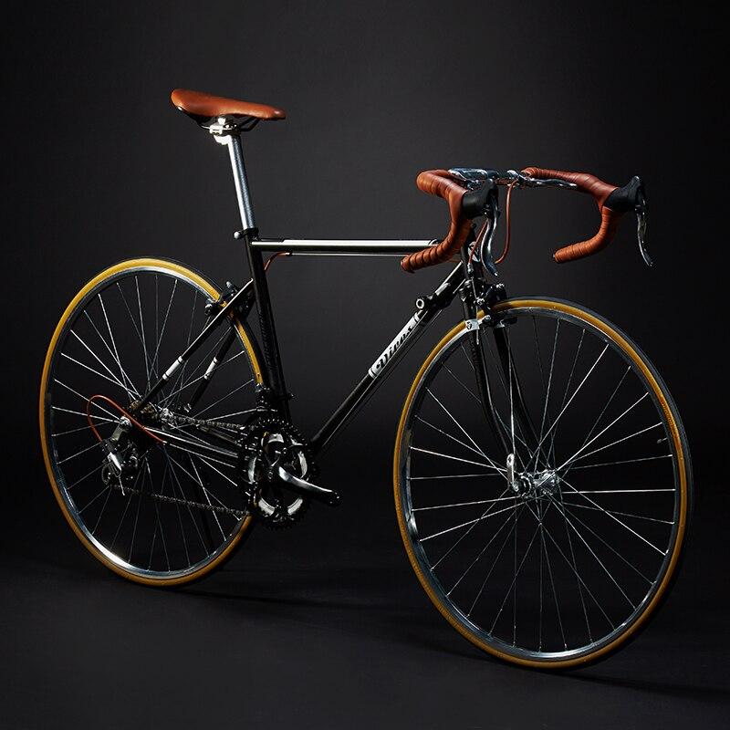 Новый Ретро дорожный велосипед из углеродистой стали рама 700CC колесо SHIMAN0 14 скорость двойной V тормозной велосипед открытый гоночный велоси...