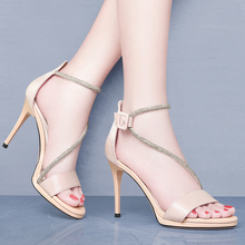 Thin Heels Sandals Woman High Heels Summer Women Shoes Sexy Bandage Peep Toe High Heels Women Pumps Crystal Dress Shoes 2-9633 цена 2017