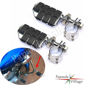 28/32/38mm Motorcycle Highway Foot Pegs Footrest Crash Bar Clevis Mount Clamps Universal For Harley Honda Yamaha Suzuki Kawasaki motorcycle engine guard mounts clamps adjustable highway pegs mount 1 1 4 footrest pedal for harley honda yamaha suzuki