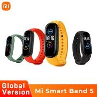 Xiaomi Mi Band 5 Globale Version Smart Armband Farbe AMOLED Bildschirm Smartband Fitness Traker Bluetooth Sport Wasserdichte Uhr