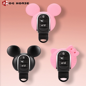 Image 3 - Car Keychain Decoration Fashion Women Key Case Cover Hello Kitty Miky Styling Accessories For MINI Cooper S F54 F55 F56 F57 F60
