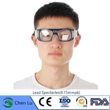 Gafas de plomo para prevenir caídas, protección radiológica genuina, protección contra la radiación Nuclear, 0,75mm PB, gafas para plomo