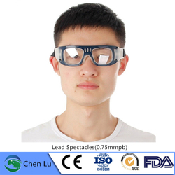 Genuine radiological protection Prevent falling off lead spectacles Nuclear radiation protective 0.75mmpb lead glasses