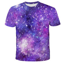 A última camisa do sistema solar moda casual caber cuello redondo 2021