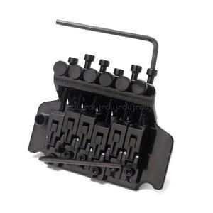 Image 2 - 1 セット黒トレモロブリッジダブルロックシステムはエレキギター弦橋ギターパーツフロイドローズ lic 私は/banez