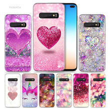 My Pink Heart Case for Samsung Galaxy S10 5G S10e S9 S8 Note 10 8 9 J4 J6 Plus M40 M30 M20 M10 Soft Phone Coque Sac Luxury Cover(China)