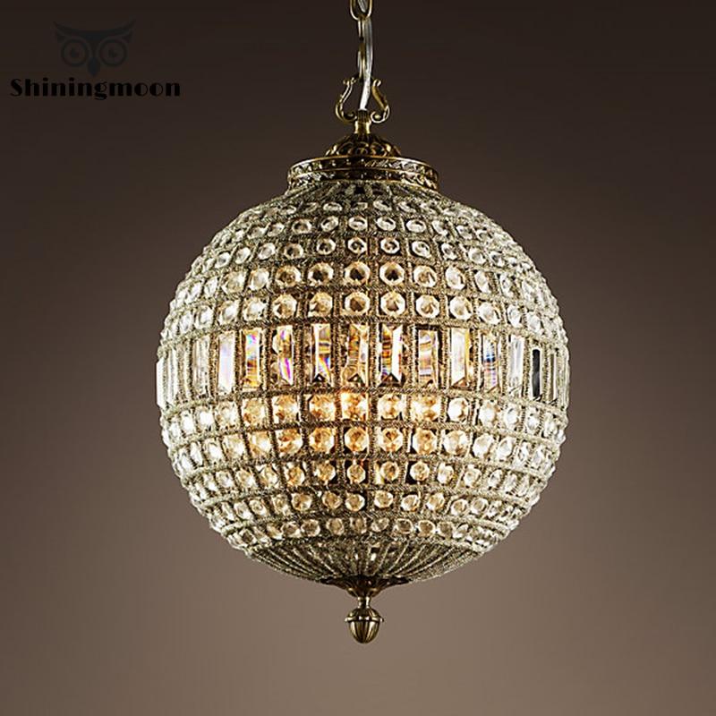 French Luxury Crystal Pendant Lights Hotel Decor Pendant Lamp Living Room Dining Room Hanglamp Luminaria Bedroom Lustre Lighting
