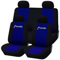 DAL 2012 CARTAZ COPRISEDILI AUTO FIAT PANDA. INTERO BICOLORE BLU ROYAL-NERO