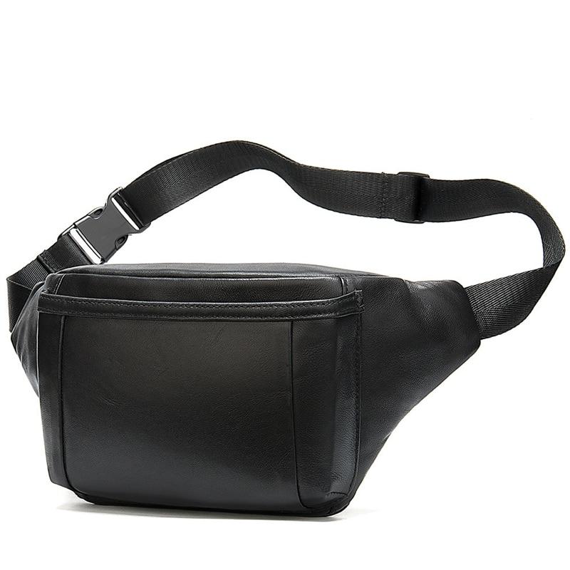 Men's Waist Bag For Men's Belt Bag Bum Waist Packs Leather Belt Bags Hip Man Belt Pouch Chest Bags
