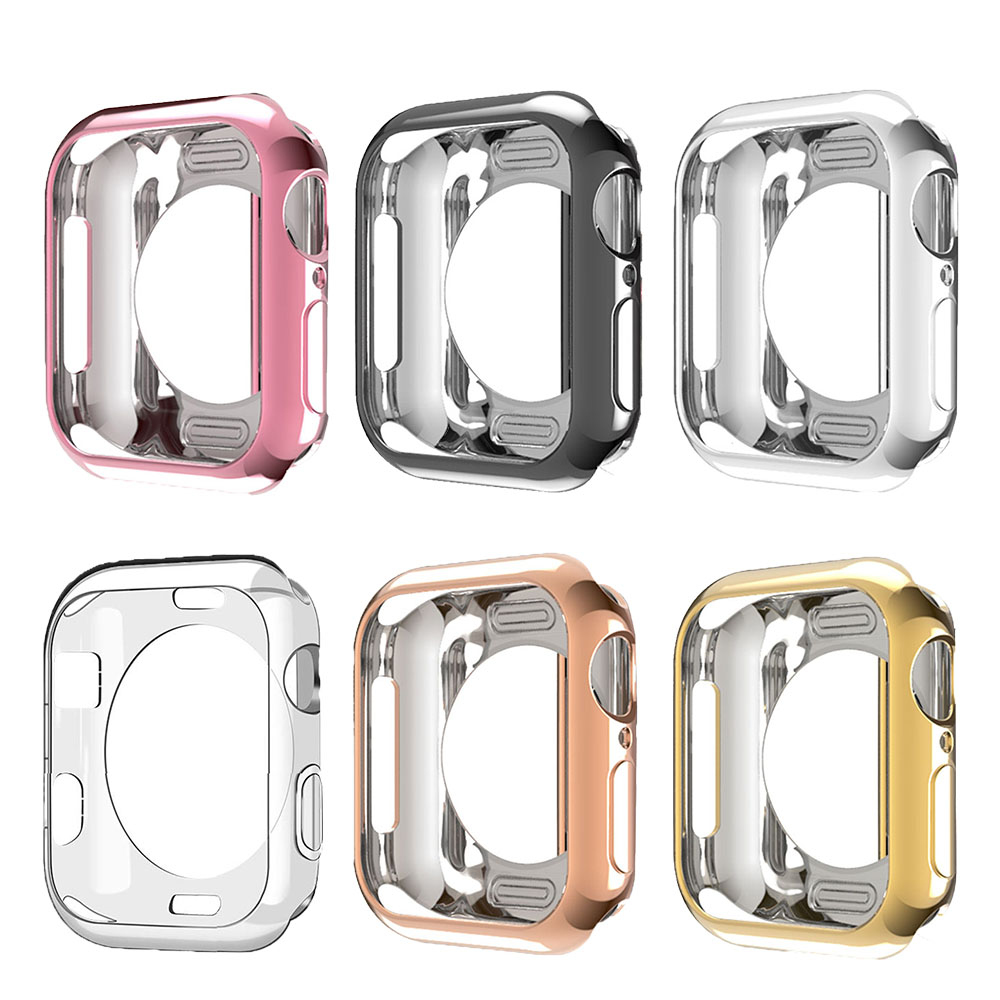 TPU Frame Case For Apple Watch Case 40mm 44mm 38mm 42mm Series 5 4 3 2 1 Protective Cover Case Bumper For IWatch Bands Shell