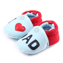 Baby toddler shoes Lovely First Walkers Baby Round Toe Flats Soft Slippers Shoes Y917(China)