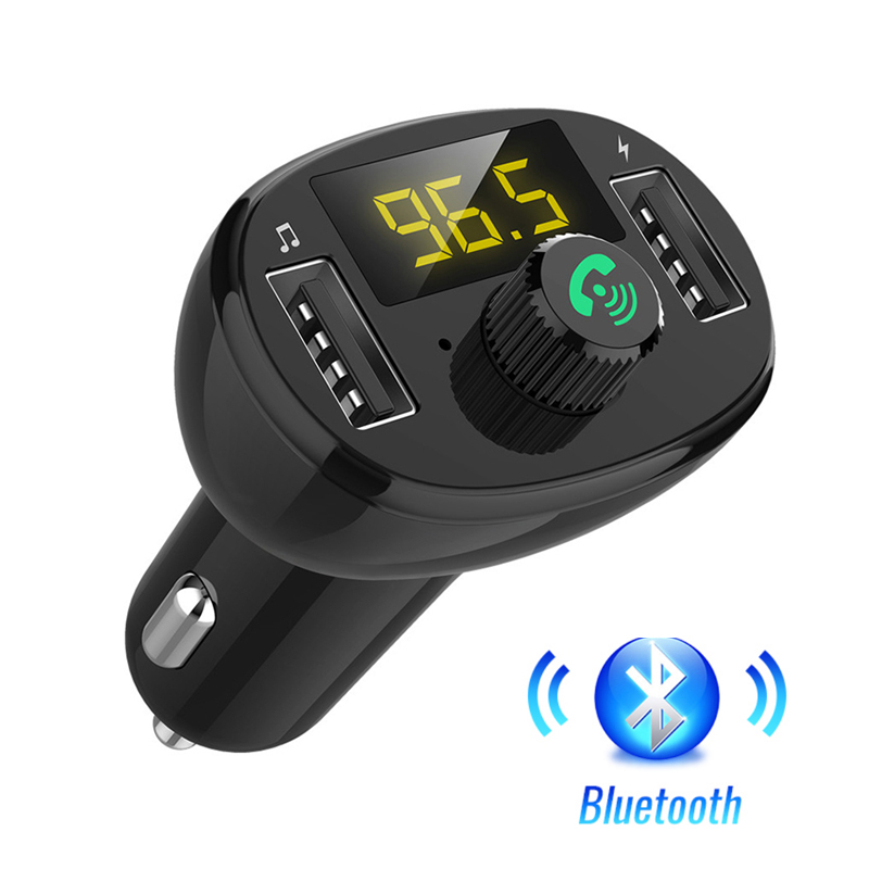 Lovebay FM Transmitter USB Charger Modulator Bluetooth Handsfree Car Kit Audio MP3 Player Dual Phone Charger USB Car Charger