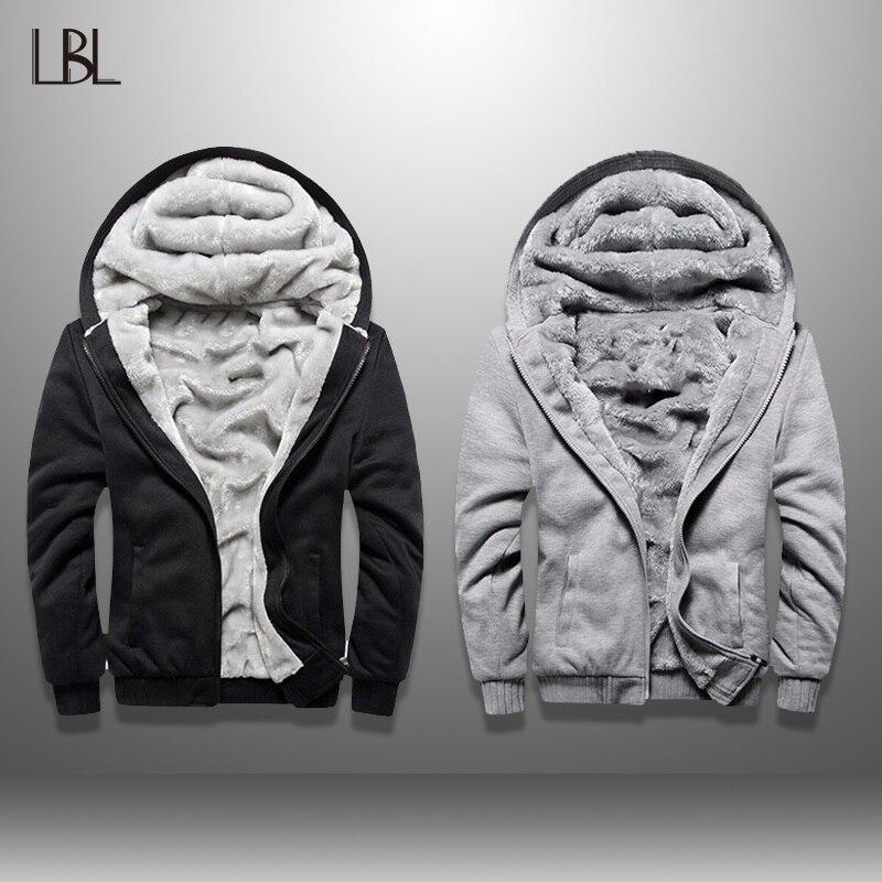 Veste polaire hommes hiver épaississement veste homme Streetwear automne Slim Fit chaud manteau mode européenne Bomber hommes Vintage 2019