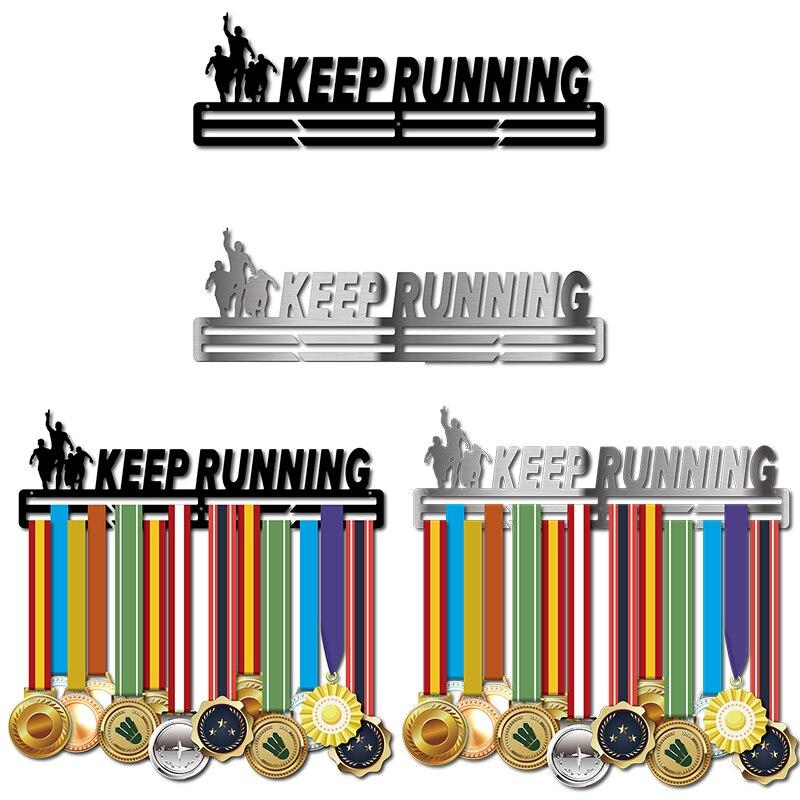 Correndo gancho Esporte medalha medalha medalha de aço Inoxidável rack de exibição titular
