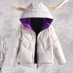 Image 5 - 秋冬暖かい厚手のコートの女性のジャケット新付きのカジュアル綿パーカー女性 P130