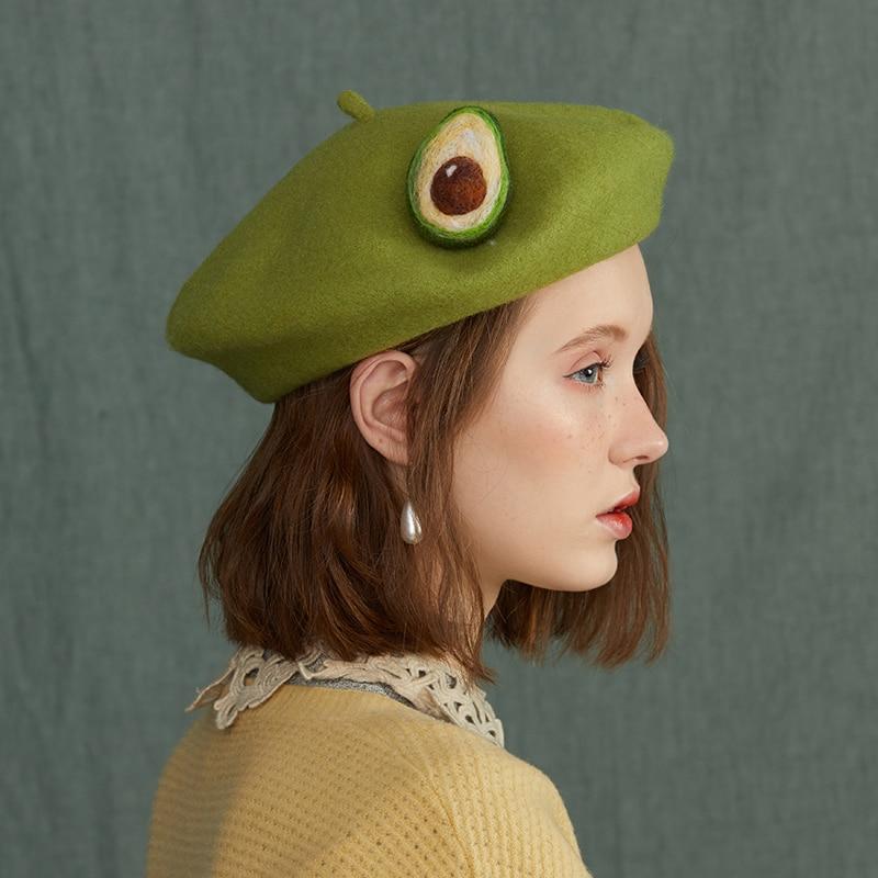 Berets caps for women exotic fruit hat creative ha