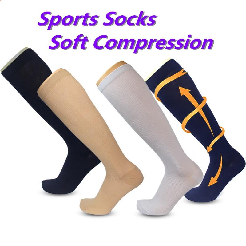 Men Women Compression Socks Fit For Sports Black Compression Socks For Anti Fatigue Pain Relief Knee High Stockings Sports Socks