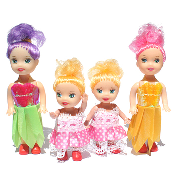 1Pc Doll Toys Cartoon Princess Dolls Sister Dolls Mini Doll Toys for Kids Birthday Gift Toys image